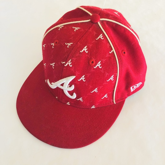 buy online hot sale online entire collection New Era Accessories | 59fifty Atlanta Braves Red Cap Mlb | Poshmark